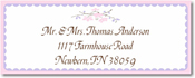 Name Doodles - Rectangle Address Labels/Stickers (Chelsea Soft Pink)